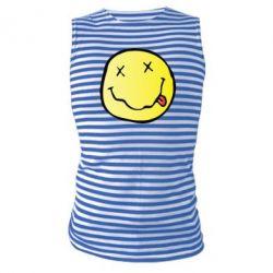 Майка-тельняшка Nirvana Logo 3D