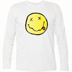 Футболка с длинным рукавом Nirvana Logo 3D - FatLine