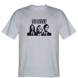 Мужская футболка Nirvana (Нирвана) - FatLine