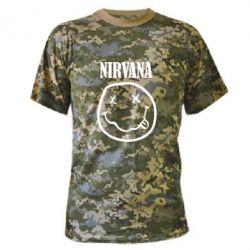 Камуфляжная футболка Nirvana (Нирвана) - FatLine