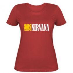 Женская футболка Nirvana смайл - FatLine