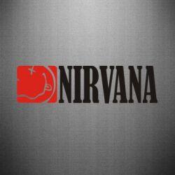 Наклейка Nirvana смайл - FatLine