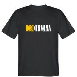 Мужская футболка Nirvana смайл - FatLine