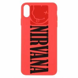Чехол для iPhone Xs Max Nirvana смайл
