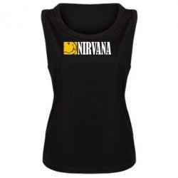 Женская майка Nirvana смайл - FatLine