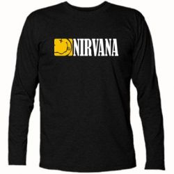 Футболка с длинным рукавом Nirvana смайл - FatLine