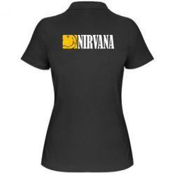 Женская футболка поло Nirvana смайл - FatLine