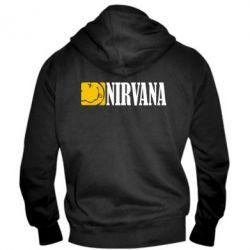 Мужская толстовка на молнии Nirvana смайл - FatLine
