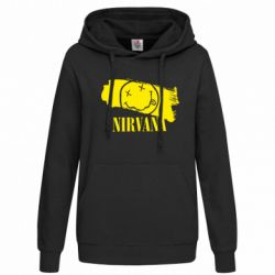Женская толстовка Nirvana Smile