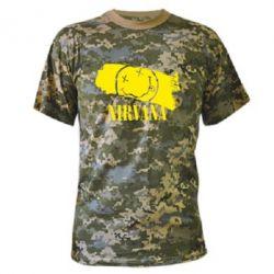 Камуфляжная футболка Nirvana Smile