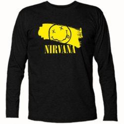 Футболка с длинным рукавом Nirvana Smile - FatLine