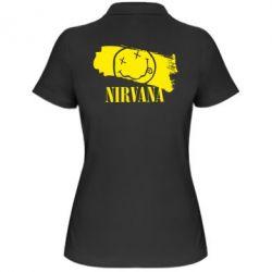Женская футболка поло Nirvana Smile - FatLine