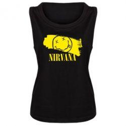 Женская майка Nirvana Smile