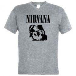 Чоловіча футболка з V-подібним вирізом Nirvana