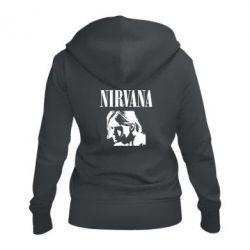 Жіноча толстовка на блискавці Nirvana
