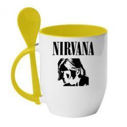 Кружка з керамічною ложкою Nirvana