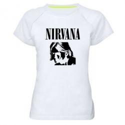 Жіноча спортивна футболка Nirvana