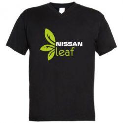 Мужская футболка  с V-образным вырезом Nissa Leaf - FatLine