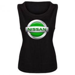 Женская майка Nissan Green - FatLine