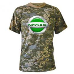 Камуфляжная футболка Nissan Green - FatLine