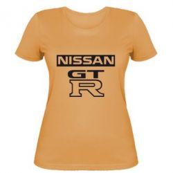Женская футболка Nissan GT-R - FatLine