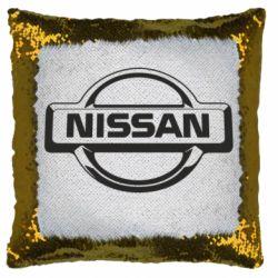 Подушка-хамелеон Nissan Логотип