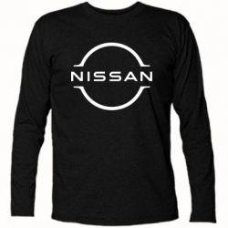 Футболка з довгим рукавом Nissan new logo