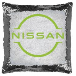 Подушка-хамелеон Nissan new logo