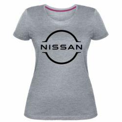 Жіноча стрейчева футболка Nissan new logo