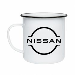 Кружка емальована Nissan new logo