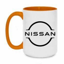 Кружка двоколірна 420ml Nissan new logo