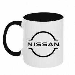 Кружка двоколірна 320ml Nissan new logo