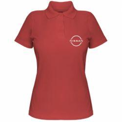 Жіноча футболка поло Nissan new logo