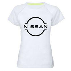 Жіноча спортивна футболка Nissan new logo