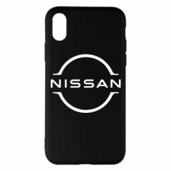 Чохол для iPhone X/Xs Nissan new logo