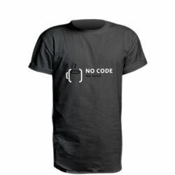 Удлиненная футболка No code, no bugs