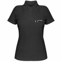 Женская футболка поло No code, no bugs