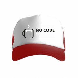 Детская кепка-тракер No code, no bugs