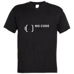 Мужская футболка  с V-образным вырезом No code, no bugs