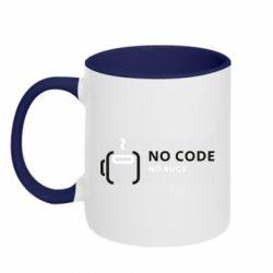 Кружка двухцветная 320ml No code, no bugs