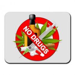 Коврик для мыши No Drugs - FatLine