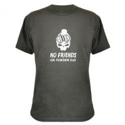 Камуфляжная футболка No friends on powder day - FatLine