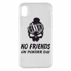 Чехол для iPhone X/Xs No friends on powder day