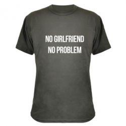 Камуфляжная футболка No girlfriend. No problem - FatLine