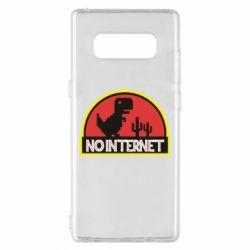 Чехол для Samsung Note 8 No internet jurassic world