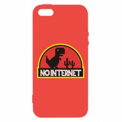 Чехол для iPhone5/5S/SE No internet jurassic world