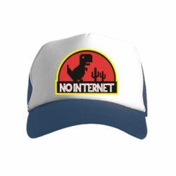 Детская кепка-тракер No internet jurassic world