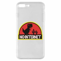 Чехол для iPhone 7 Plus No internet jurassic world