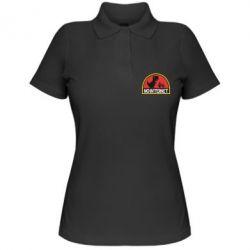 Женская футболка поло No internet jurassic world