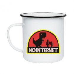 Кружка эмалированная No internet jurassic world